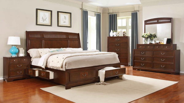 Pecan Bedroom Group with Storage by Furniture World