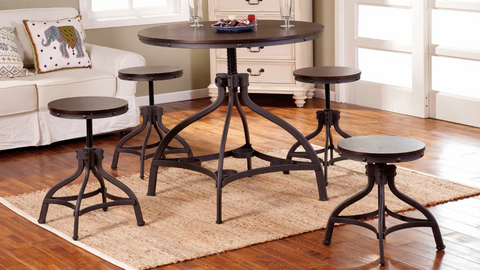 Iron and Espresso Dining Group by Furniture World