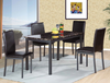 Faux Marble and Gun Metal Grey 5PC Dining Group by Furniture World