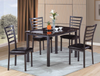 Faux Marble and Ladder Back Seating 5PC Dining Group by Furniture World