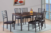 Faux Marble and Ladder Back 7PC Dining Group by Furniture World