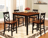 Black and Cherry Counter Height Dining Group by Furniture World