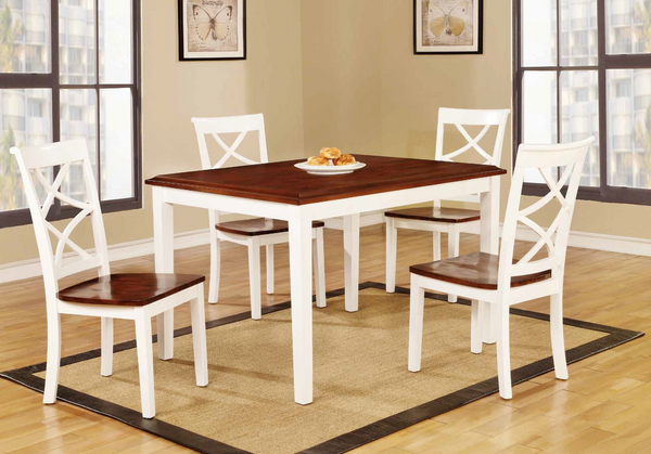 White & Cherry Dining Group by Furniture World