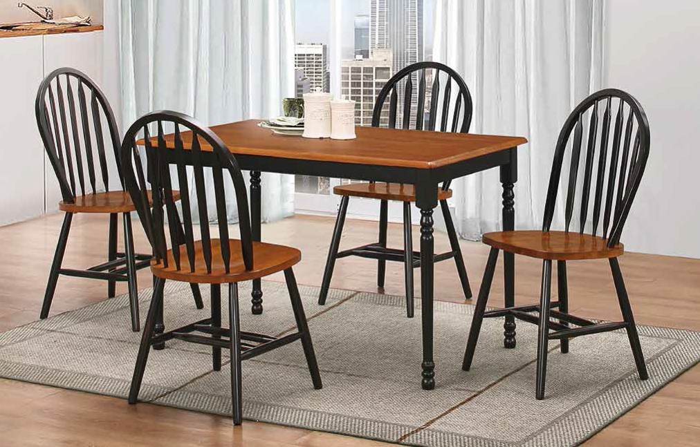 Farmhouse 5 Piece Dining Group By Furniture World