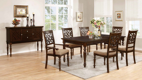Cherry & Taupe Dining Room Group by Furniture World