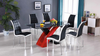 High Gloss Black and White Dining Group by Furniture World