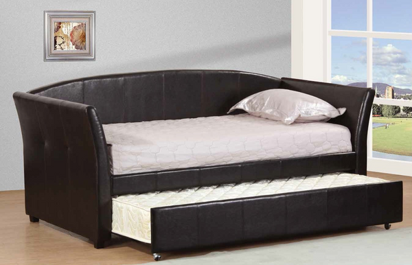 Black Upholstered Twin Daybed by Furniture World