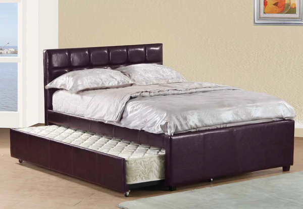 Full Tufted Daybed in Brown by Furniture World