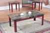 Faux Marble Coffee & 2 End Tables by Furniture World