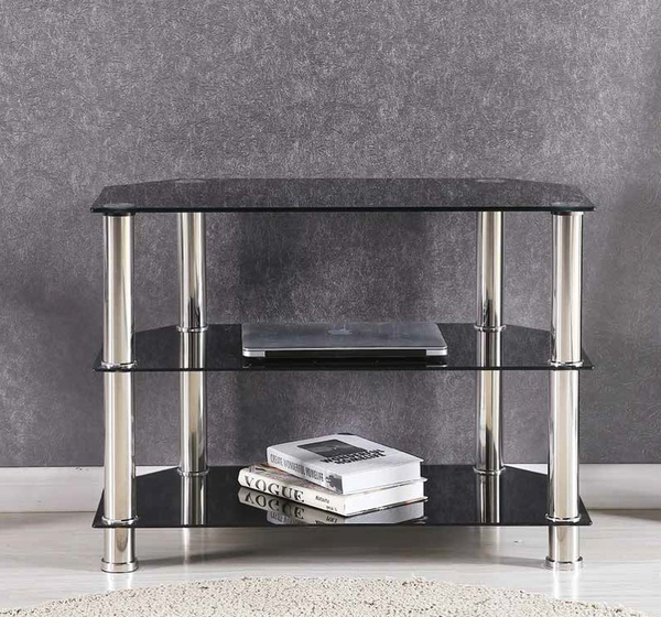 Black & Chrome 32''  TV Stand by Furniture World