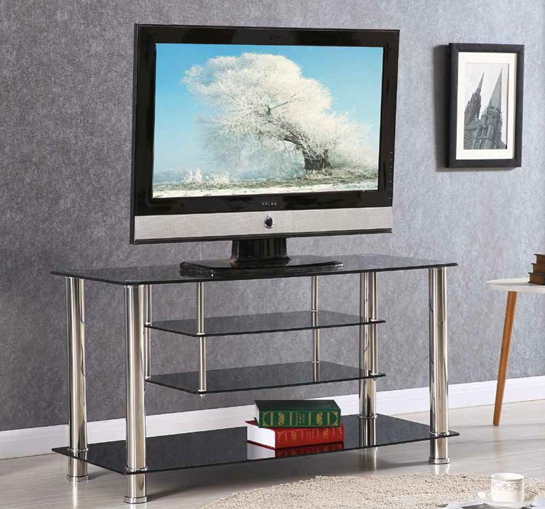 Black Chrome 41 Tv Stand By Furniture World Price Match Furniture