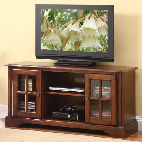 Acme Furniture Basma TV Stand with 2 Glass Doors