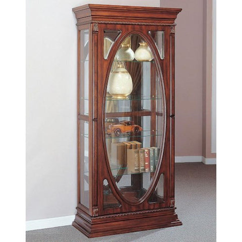 Acme Furniture Becka Curio Cabinet with 4 Glass Shelves
