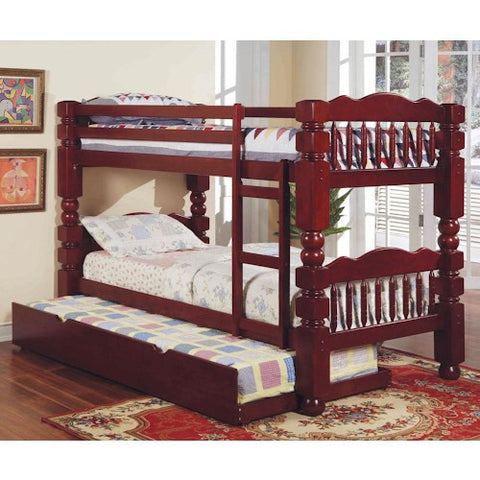 Acme Furniture Benji Traditional Twin Bunkbed with Trundle Unit
