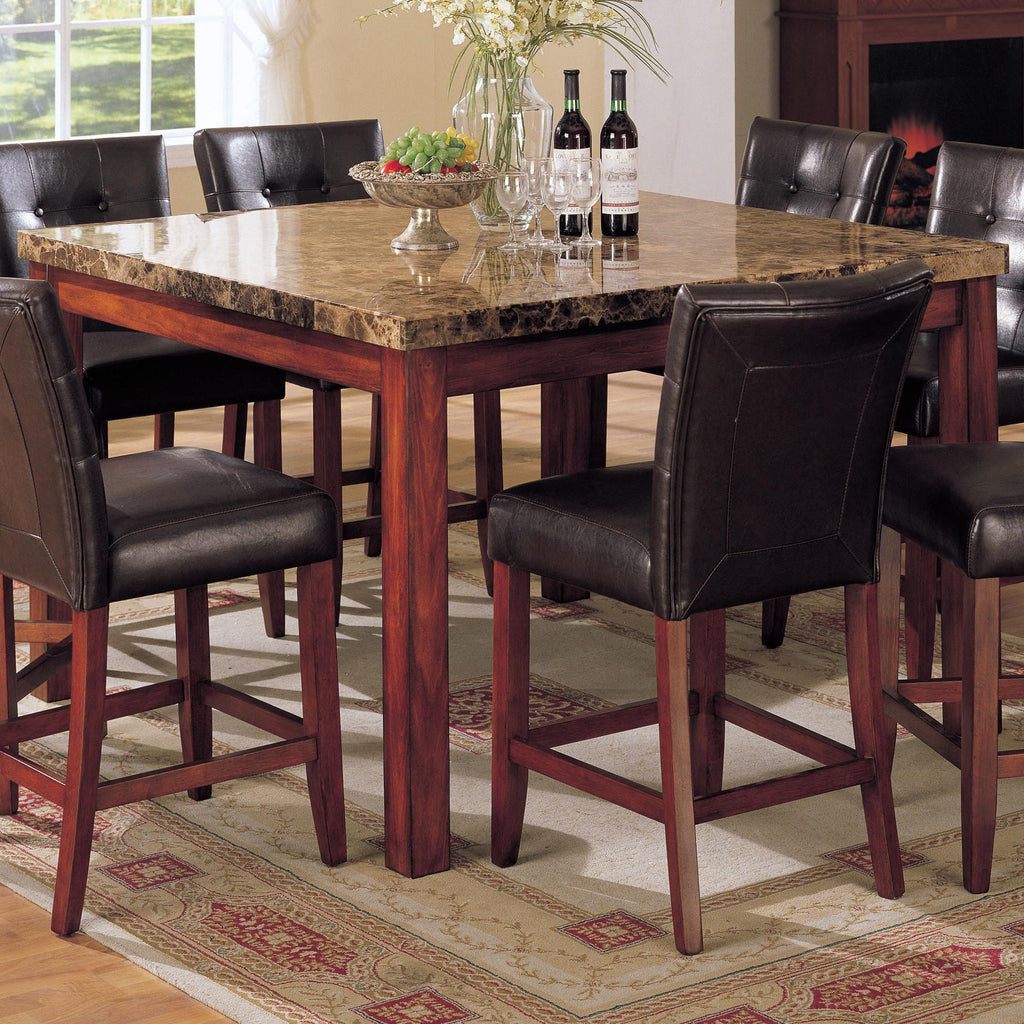 Acme Furniture 7380 Bologna 9 Piece Counter Height w/ Marble Top ...