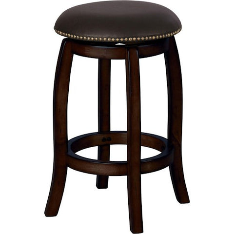 Acme Furniture Chelsea Leather Transitional Bar Stool with Leather Seat and Nailhead Trim