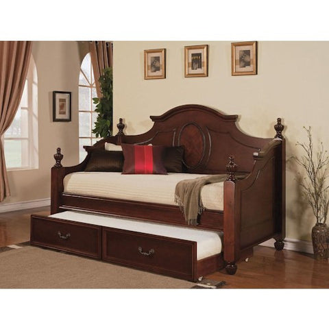 Acme Furniture Classique Traditional Trundle Daybed with Urn Finials