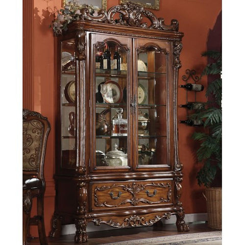 Acme Furniture Dresden Dining Curio w/ Drawer