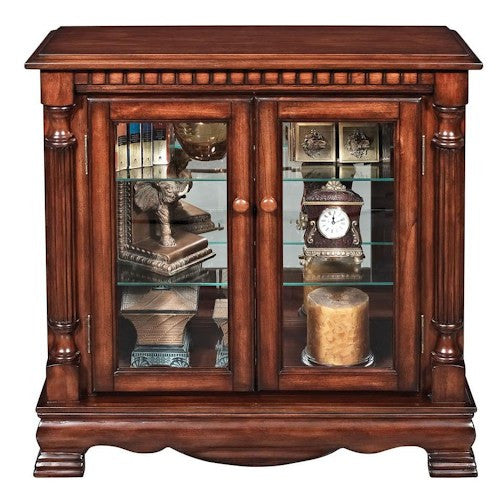 Acme Furniture Gilby 2 Door Curio Cabinet with Pilasters – Price ...