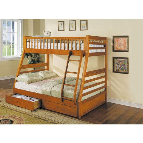 Acme Furniture Jason Transitional Twin Over Full Bunkbed