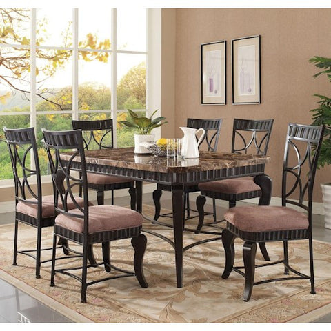 Acme Furniture Katya 7 Piece Rectangle Table and Side Chair Setk