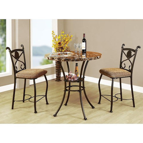 Acme Furniture Kleef 3-Piece Counter Height Dining Set