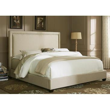 Liberty Furniture Upholstered Panel Bed in Natural Linen Fabric