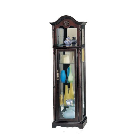 Acme Furniture Lindsey Traditional Cherry Curio W/Glass Door