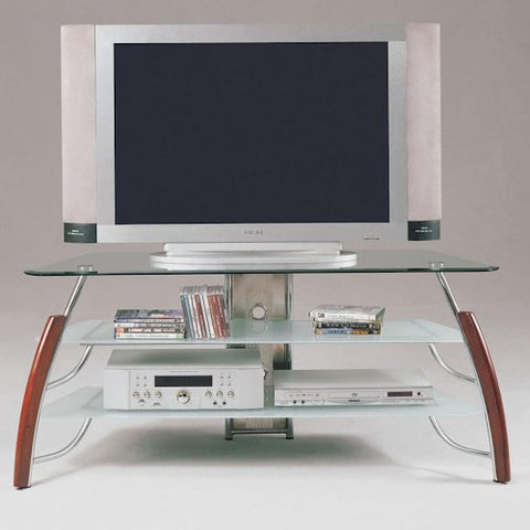 Acme Furniture Martini Wood and Glass TV Stand
