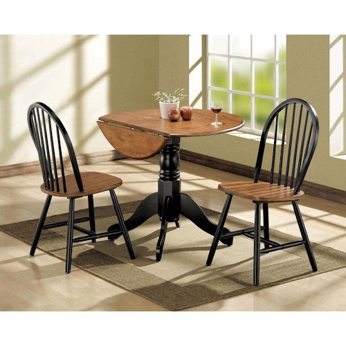 Acme Furniture Mason 3-Piece Dining Drop Leaf Table and Chair Set