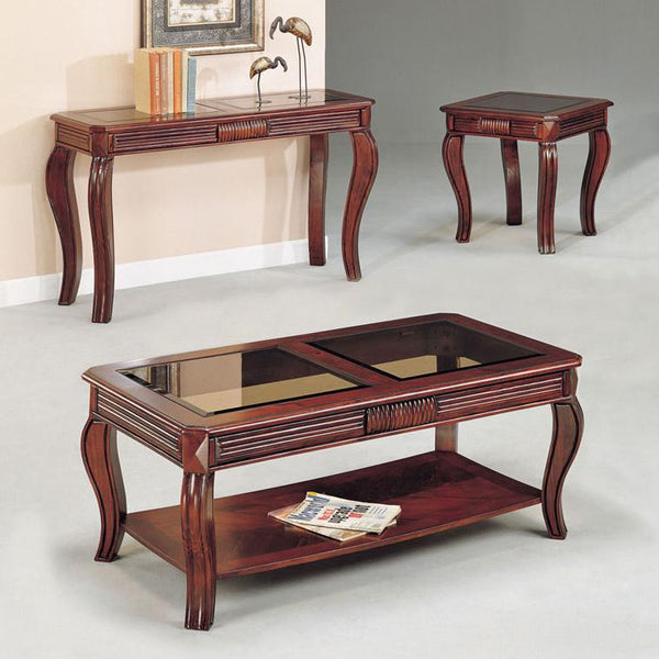 Acme Furniture Overture 3-Piece Transitional Coffee and End Table Set