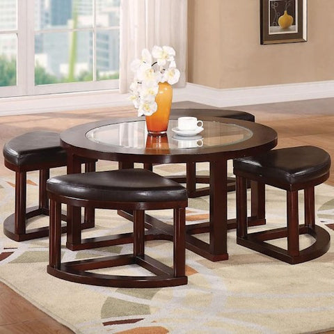 Patia 5-Piece Coffee Table & Ottomans