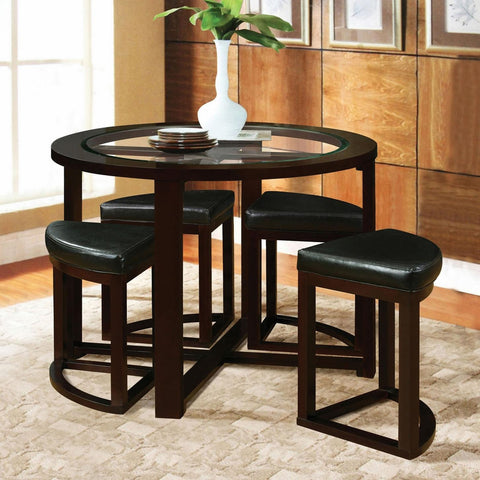 Acme Furniture Patia 5-Piece Counter Height Table and Chair Set