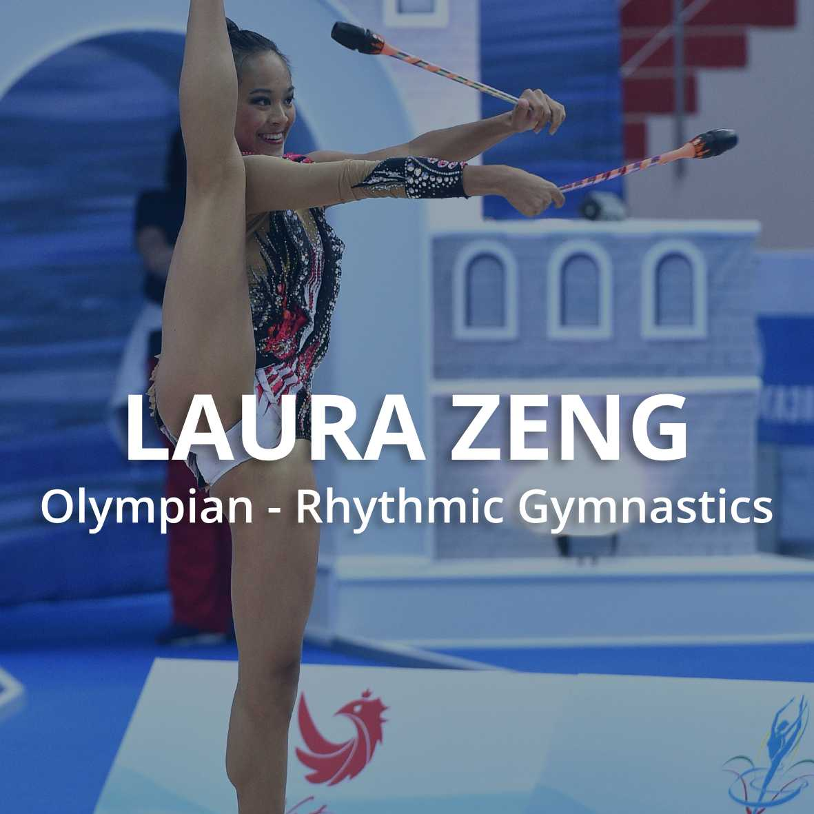 laura zeng, olympic rhythmic gymnastics, foam roller athletes