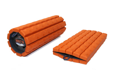 Scratch & Dent - Morph Collapsible Foam Rollers, travel foam roller, folding foam roller, foldable foam roller, collapsible foam roller accessories, foam roller sleeve, foam roller skin, foldable foam roller, gym roller, massage roller, mobility tool, portable foam roller, Brazen foam roller, The Morph, Morph foam roller, Brazyn foam roller - Brazyn Life