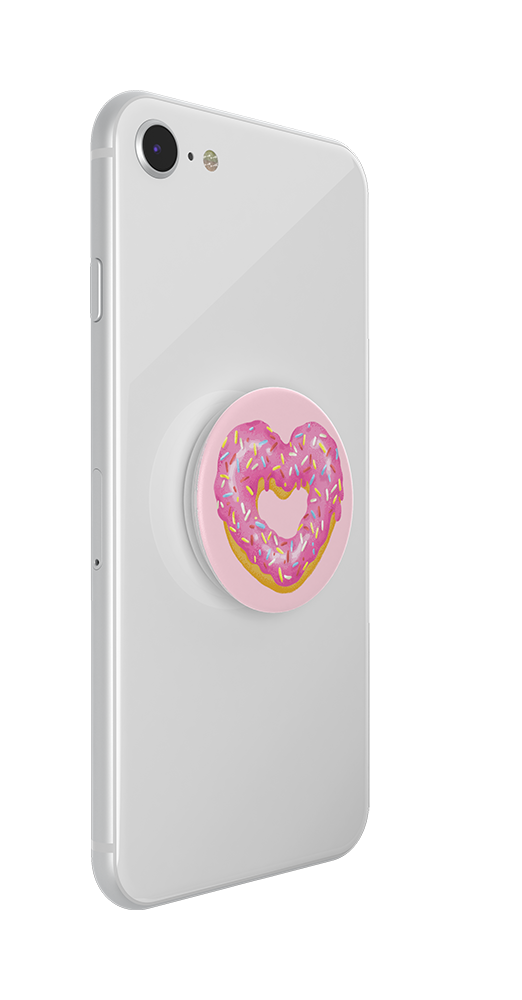 Strawberry Heart Donut, PopSockets