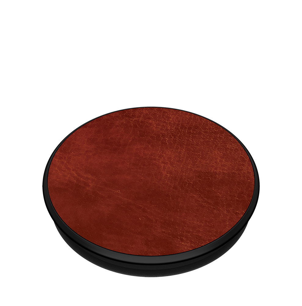 Brown Vegan Leather, PopSockets