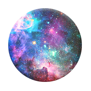 Colorful outer space PopSocket phone stand