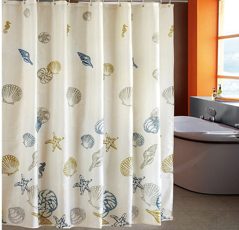 Starfish Shell Shower Curtain