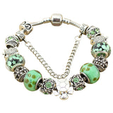 Green Sea Turtle Charm Antique Silver Bracelet w/ Charms