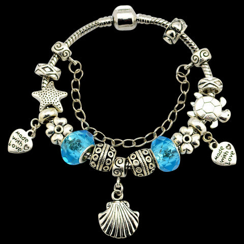 Sea Turtle Starfish Shell Bracelet