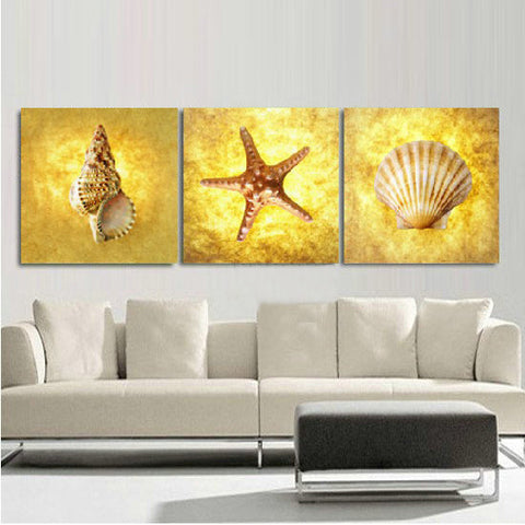 Shells And Starfish Wall Art