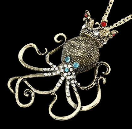 King Octopus Pendant Necklace