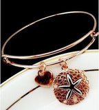 Antique Finish Starfish Love Bracelet