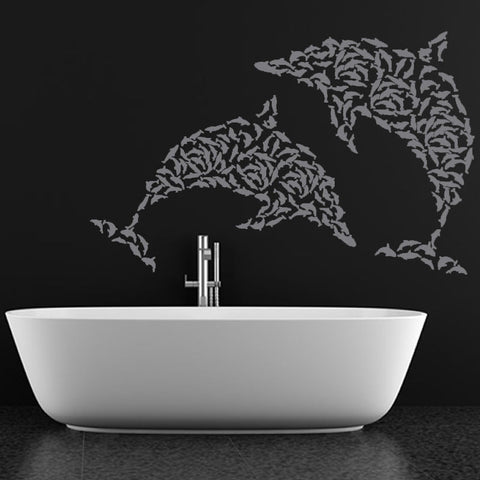 Dolphin Multiplyer Design Wall Decal