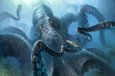 Sea Monster Octopus Canvas