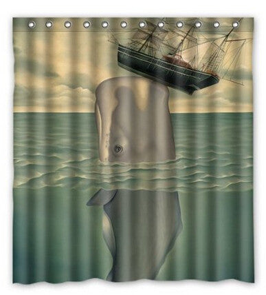 Nautical Whale Vintage Shower Curtain