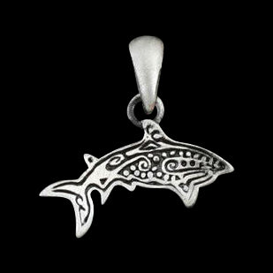 Tribal Shark Alloy Pendant Necklace