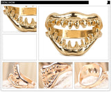 Shark Jaw Ring Silver Black or Gold