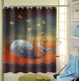 Flying Whale Shower Curtain